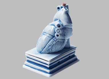 HEART CERAMIC INCENSE BURNER